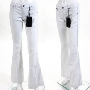 Anlo Tall Flare Wide Leg White Denim Jeans Size 29